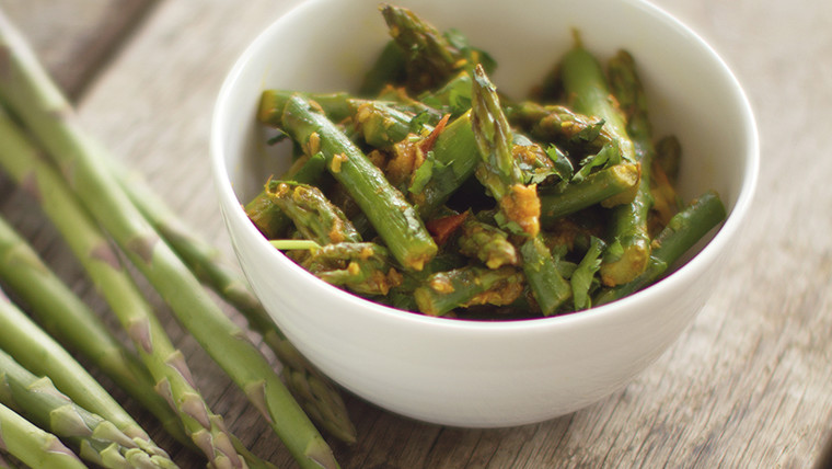 Asparagus with Indian Spices