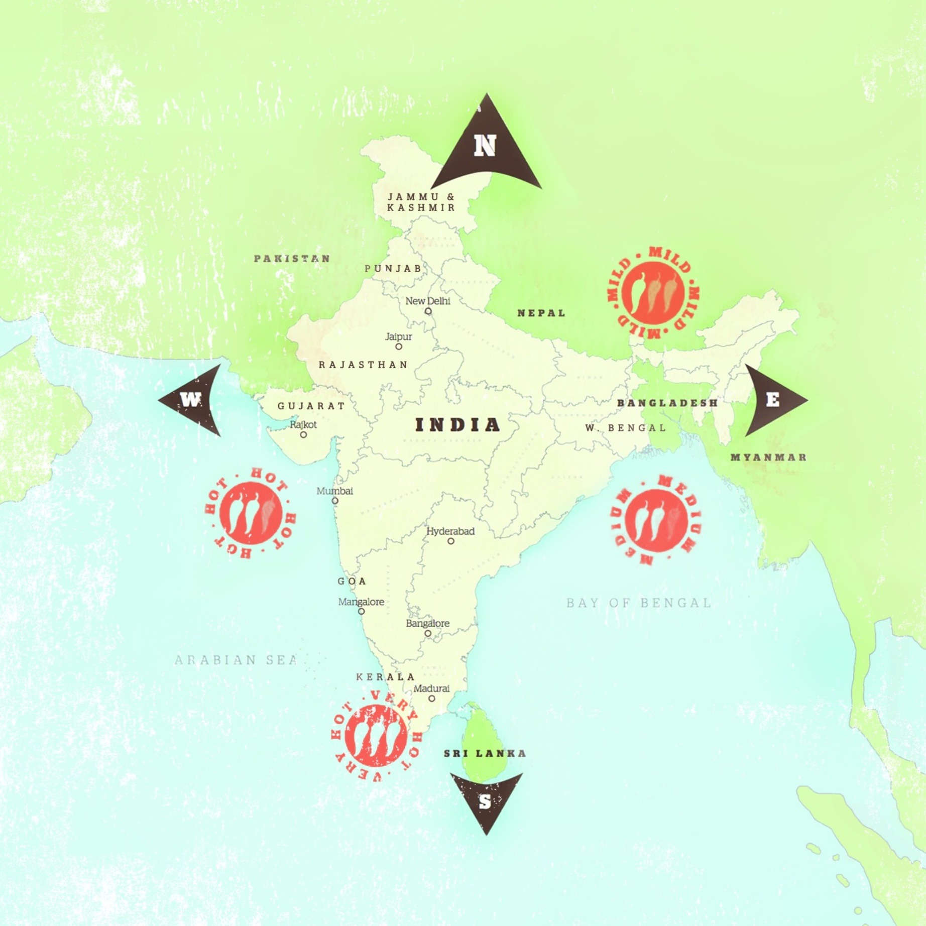 Indian Cuisine: Regional Map