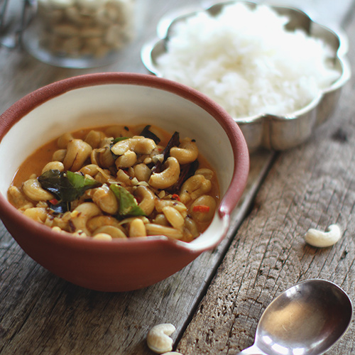 Cashew nut curry recipe