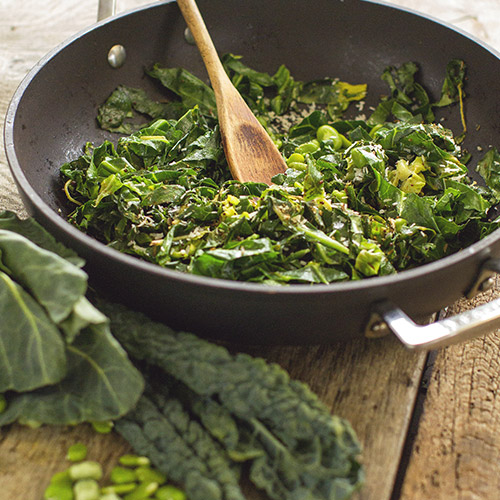 spiced summer greens blog