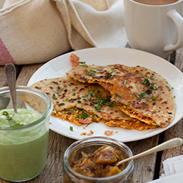 Spicy Bacon Parantha