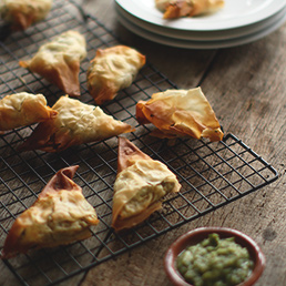 Beetroot and Coconut Samosa
