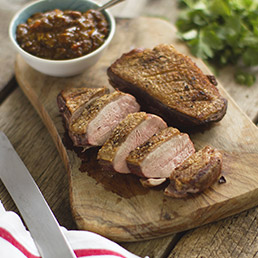 Indian Duck Breast with Tamarind Jam